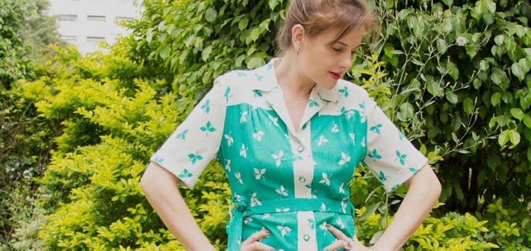 Um Vestido que poderia ter sido roubado do guarda-roupa da sua avó e alguns fatos sobre moda vintage | EAMR