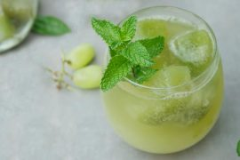 Gelo saborizado de pepino e hortelã para drinks | EAMR Drink da Semana