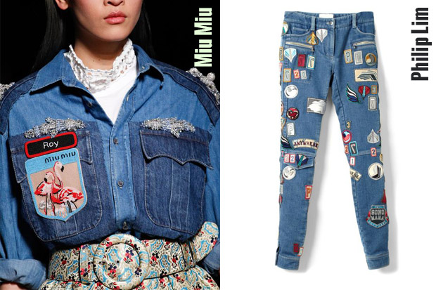 Jeans Patches - Miu Miu, Philip Lim