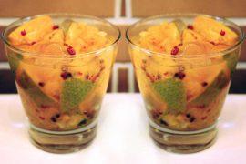 Caipirinha de tangerina com pimenta rosa
