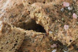 Receita sem glúten - Focaccia de Farinha de Linhaça | EAMR