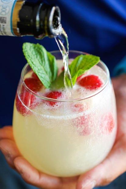 Drinque para o dia dos namorados: Limoncello Framboesa Prosecco | EAMR