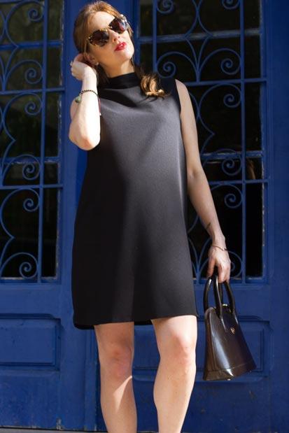 Looks de grávida: Gravidez na reta final e apostando no LDB (vestidinho preto) | EAMR