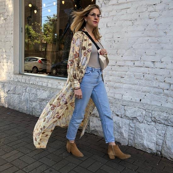 Look com vestido vintage e a calça mom jeans que não paro de usar | Estilo ao Meu Redor