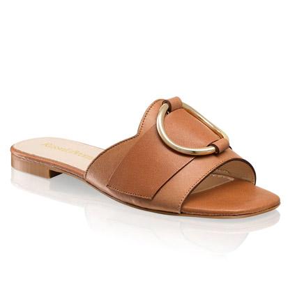 Sapato mule de cor bege