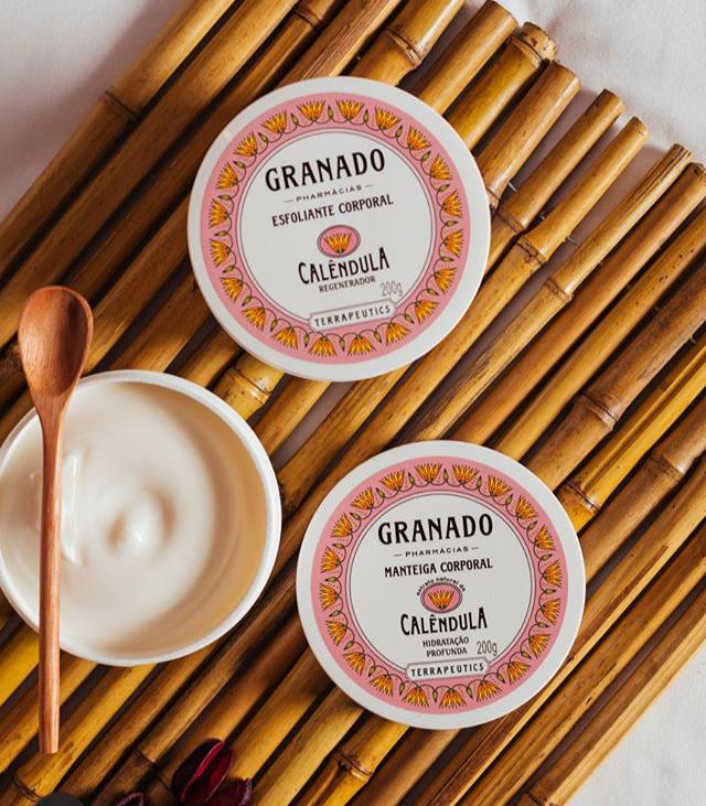 Potes de Granado Manteiga Corporal e esfoliante corporal para proteger e hidratar a pele no inverno.